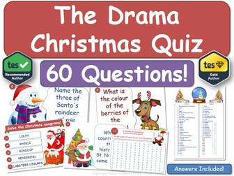 Drama Christmas Quiz!