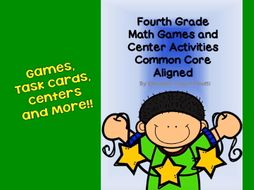 Fourth Grade Math Games and Center Activities