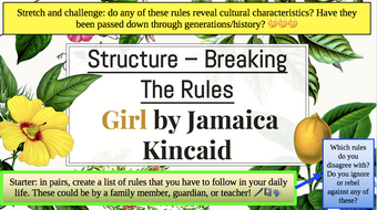 Creative-Writing---Session-11---Structure---Breaking-The-Rules---Girl-by-Jamaica-Kincaid.pptx