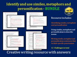 Similes, Metaphors, Personification (differentiated)