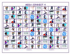 Winter Mega Connect 4 Game