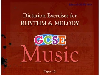 DICTATION - RHYTHM & MELODY PAPER #10 [CHRISTMAS MUSIC]