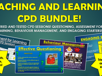 Teaching and Learning CPD Bundle!