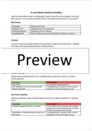 A-Level Maths - Statistical Sampling Notes and Worksheet - Applied