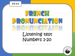 French pronunciation test: numbers 1-20
