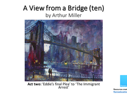 GCSE: A View From a Bridge (10) Act Two 'Eddie's Final Plea' to 'The Immigrant Arrest'