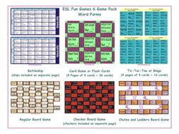 Word Forms 6 Board Game Bundle