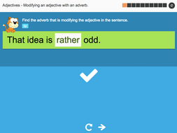 Modifying an adjective with an adverb - Interactive Activity - KS3 Spag