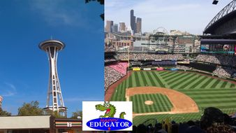Dollar Stock Photos - Seattle Space Needle and Safeco Field