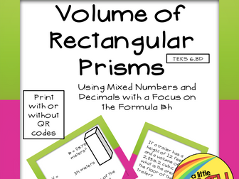 Volume of Rectangular Prisms with Formula Bh