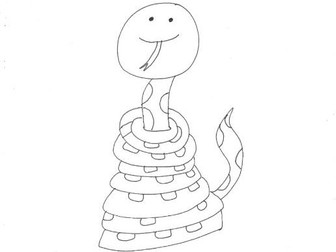 Snake (2): Animals and Pets: Colouring Page