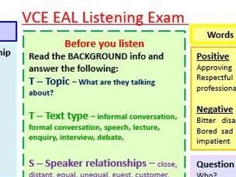 Literacy Mat for the VCE EAL listening task