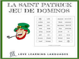 Jeu de Dominos - French St. Patrick's Day - La Saint Patrick