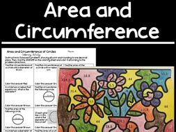 Area and Circumference of a Circle Colouring Activity