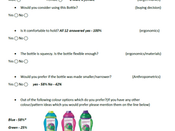 Design Questionaire, Example of how to layout a Questionaire in market research