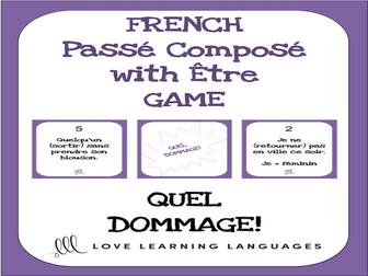 French passé composé with être game - Quel Dommage!