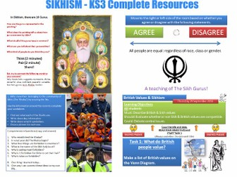 KS3 - RS - Sikhism (9 Lessons) Complete Resources [23 Files]