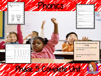 Phonics Phase 5 Complete Unit of Lessons