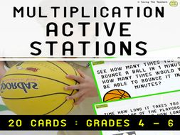 Multiplication Station Task Cards: Years 5 - 7