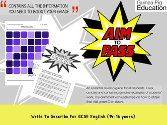 Write To Describe (GCSE English Writing Work Pack) (ages 14-16 years)