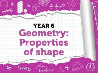 Properties of Shape : Year 6 Summer Term - White Rose Maths