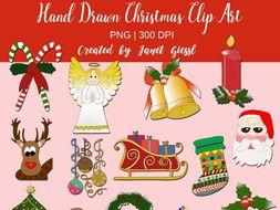 Hand Drawn Christmas Clip Art