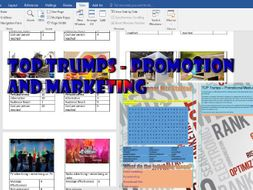 24 easy to edit playing cards For Teaching Promotion And Marketing Techniques Plus Starter