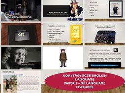 AQA 8700/2 English Language - Non-fiction Features