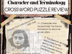 The Diary of Anne Frank Crossword Puzzle Review | Teaching ...