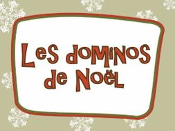 FRENCH ~ CHRISTMAS ~ Le Noël  ~ Dominoes