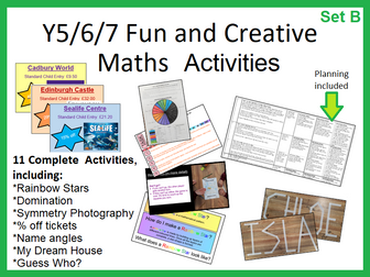 11 MORE Fully resourced maths lessons, including a variety of investigations, tasks and games