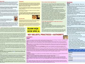 AQA: ISLAM - Beliefs, Teachings, Practices Revision RS GCSE