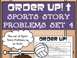 Story Problems - Sports Order Up! Set 4 (Volleyball)