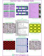 Adjectives 7 Game Plus 2 Worksheet Bundle