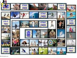 Sports and Exercise Animated Board Game