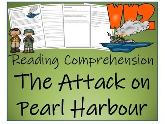 UKS2 History - The Attack on Pearl Harbour Reading Comprehension Activity