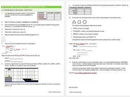 OCR GCSE Computer Science 2.2 Programming Techniques Exam Assessment Questions