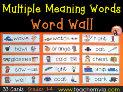 Multiple Meaning Words - Word Wall