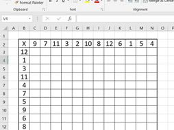 x  random generated multiplication tables square by kg  worksheet