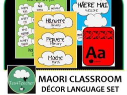 Maori Language Classroom Decor Set