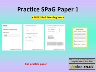 Practice SPAG Paper 1