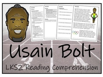 LKS2 Literacy - Usain Bolt Reading Comprehension Activity