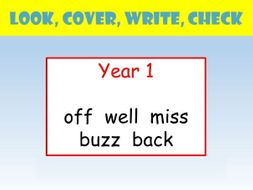 Y1 english spelling powerpoint look cover write check terminal presentation ccuart Choice Image