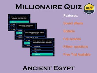 Millionaire Quiz! (Ancient Egypt Edition)