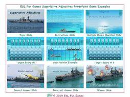 Superlative Adjectives  English Battleship PowerPoint Game