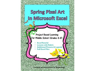 Spring Pixel Art in Microsoft Excel