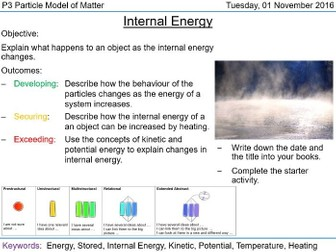 AQA P3.4 Internal Energy