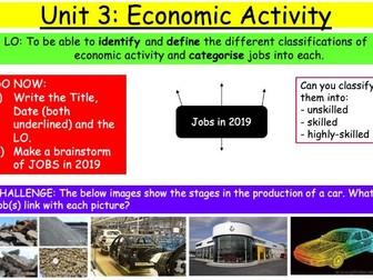 KS3: Economic Activity - Lesson 1: Introduction