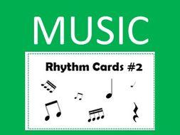 Music Rhythm Cards #2