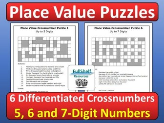 Place Value Puzzles (Worksheets)